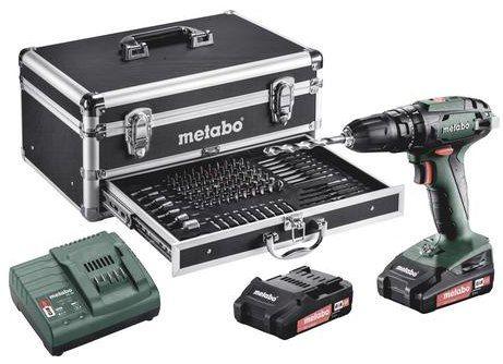 Metabo 18V Akku Schlagbohrschrauber 2.0Ah Li Ion inkl. 2. Akku, Koffer & mehr für 177€ (statt 200€)