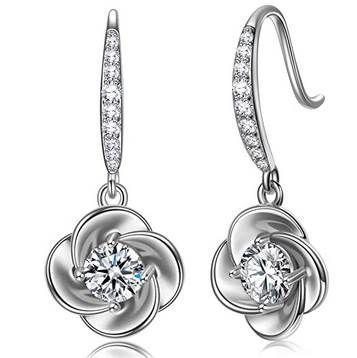 NINAMISS Ohrringe aus 925er Silber mit Zirkonia in 2 Farben für je 8,99€ (statt 18€) – Prime