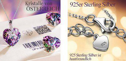 Alex Perry Halskette Schönes Leben 925er Sterling Silber und Swarovski Kristall für 14,99€ (statt 50€)