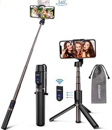 Elegiant EGS 005 3in1 Selfie Stick & Stativ für 10,79€ (statt 18€)   Prime