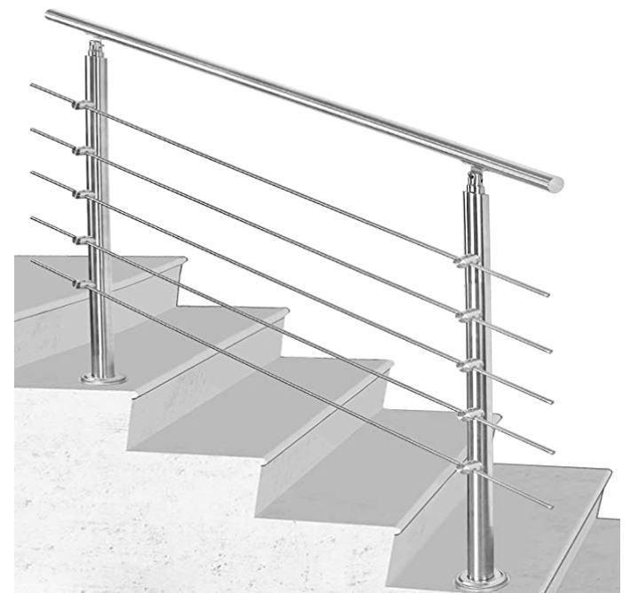 Hengda Edelstahl Treppengeländer mit bis 30% Rabatt z.B. 80cm für 53,13€ (statt 76€)