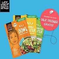 Salatdressings von Justspices gratis ausprobieren