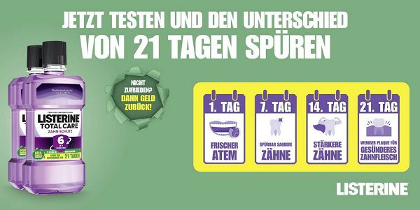 Listerine Mundspülung gratis ausprobieren