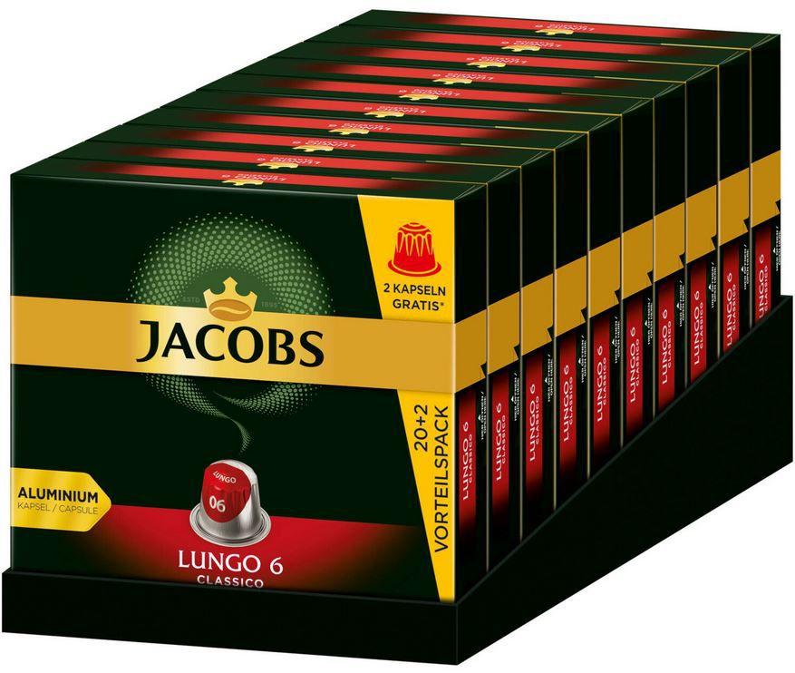 Jacobs Lungo 6 Classico   220 Kaffee Kapseln Nespresso für 34,52€ (statt 40€)
