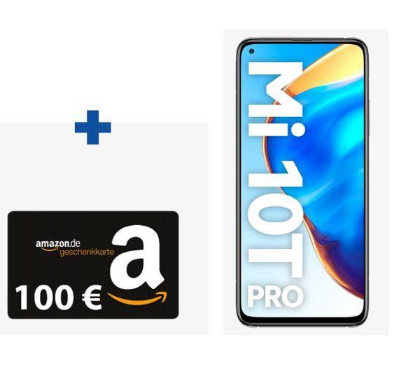 Xiaomi Mi 10T Pro 256GB 5G für 4,95€ + Vodafone AllNet u. SMS Flat für 34,99€ mtl. + 100€ Amazon Gutschein