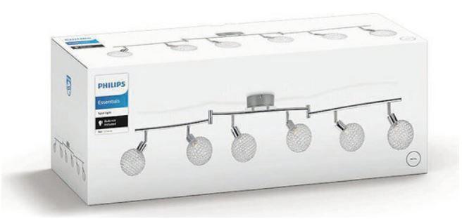 Philips NET Chrom Deckenleuchte 6 x GU9 für 28,90€ (statt 85€)