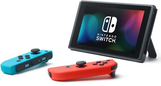 Nintendo Switch mit Joy Cons in Rot Blau oder Grau für 273,29€ (statt 314€)