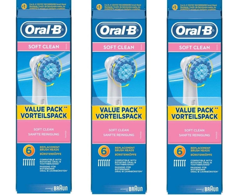 Oral B Sensitive Clean 18 Aufsteckbürsten (3 x 6) für 29,99€ (statt 40€)
