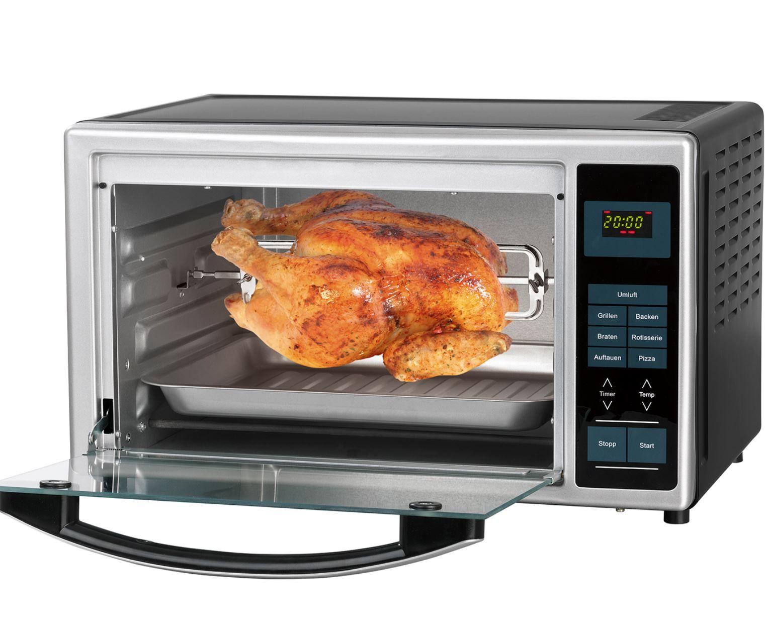 GOURMETmaxx Infrarot Ofen mit Pizza Stein und Zubehör für 99,99€ (statt 120€)