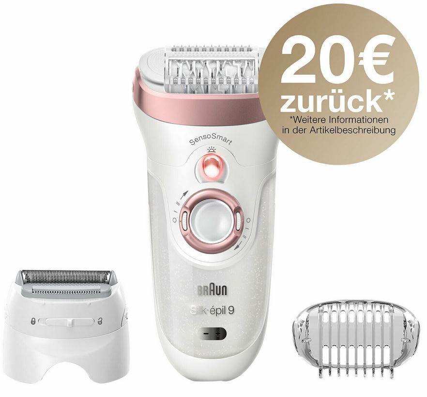 Braun Silk-epil 9-720 Damen Epilierer mit Zubehör für 85,36€ (statt 96€) – 20€ Cashback