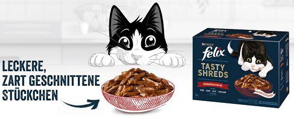 Purina: FELIX® Tasty Shreds gratis ausprobieren