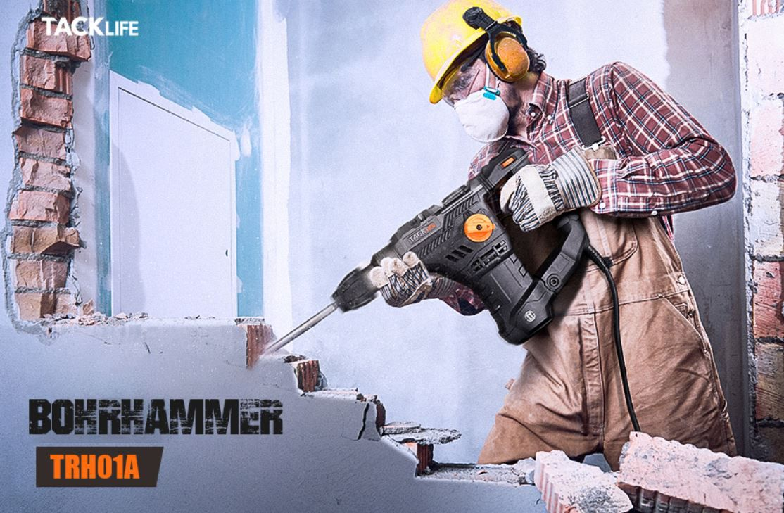 TACKLIFE TRH01A Bohrhammer SDS Plus 1.500W mit Zubehör für 79,99€ (statt 106€)