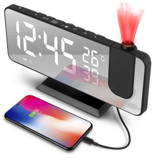 tEEZErshop Projektionswecker mit Radio für 22,19€ (statt 30€)
