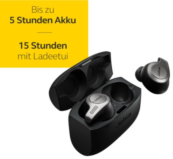 JABRA Elite 65T In Ear True Wireless Kopfhörer für 44,99€ (statt neu 58€)   refurbished