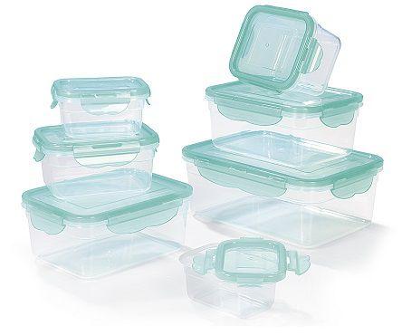 Hoberg Frischhaltedosen mit 4 fach Klick Verschluss 14 tlg. in 3 Farben für 12,89€ (statt 18€)