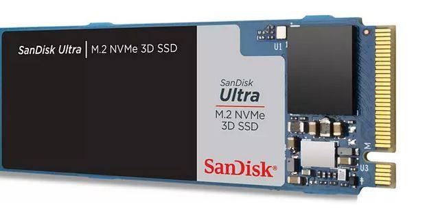 Sandisk Ultra 3D NVMe SSD mit 1TB für 79,89€ (statt 94€)