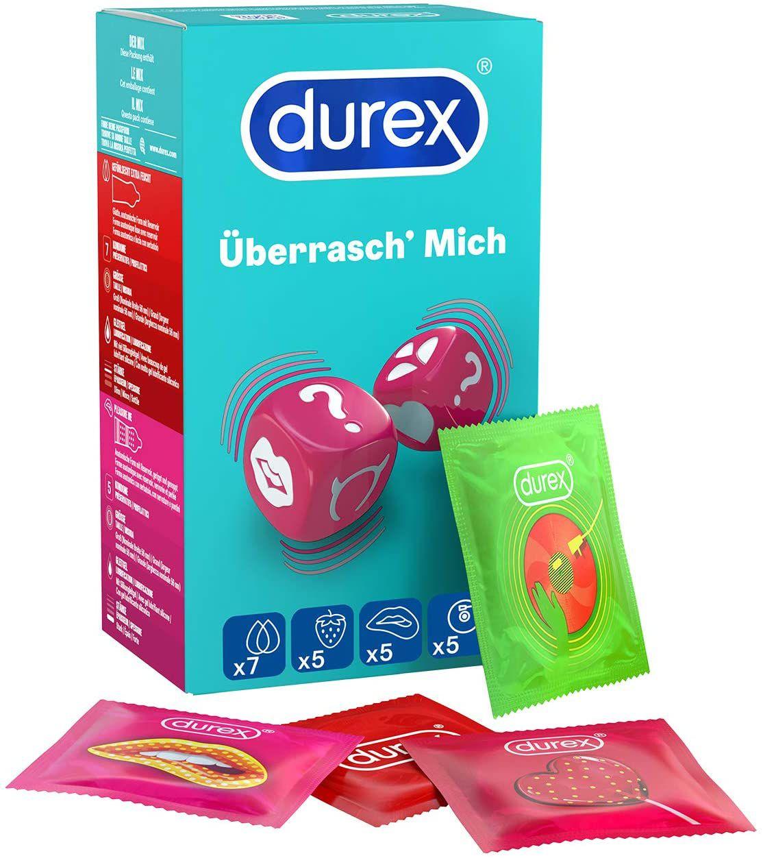Durex Überrasch Mich Box mit 22 Kondomen für 9,59€ (statt 18€)
