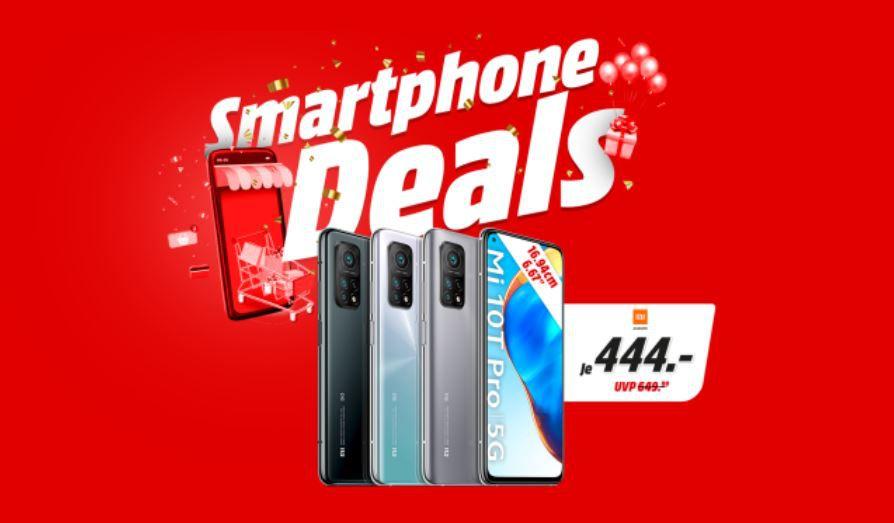 MediaMarkt & Saturn Smartphone Fieber – z.B. XIAOMI Mi 10 T Pro 5G 256GB Dual SIM für 434€ (statt 546€)