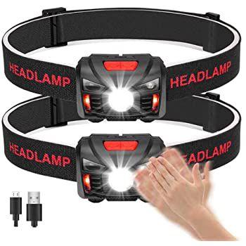 2er Pack LED Stirnlampe mit 5 Modi & Sensormodus für 11,39€   Prime