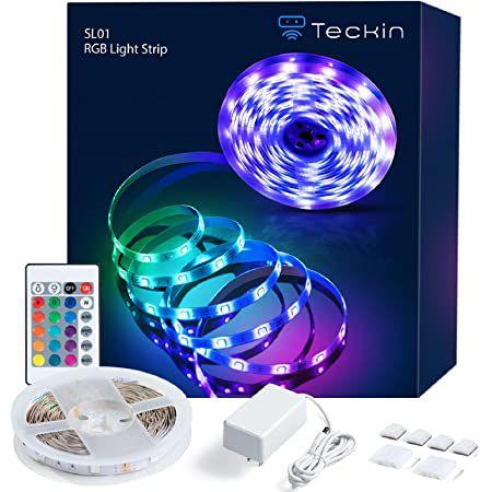 TECKIN 5m LED Streifen Selbstklebend mit Fernbedienung & Netzteil für 7,99€ (statt 14€) – Prime