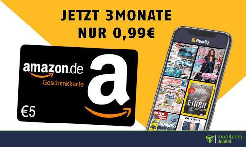 Letzte Möglichkeit! 3 Monate Readly Magazin Flat (Playboy, GameStar, BamS,...) für 0,99€ + GRATIS 5€ Amazon Gutschein