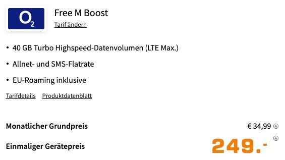Samsung Galaxy S21+ mit 256GB für 249€ + o2 Allnet Flat mit 40GB LTE für 34,99€ mtl.