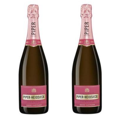 2 Flaschen Piper Heidsieck Rosé Sauvage Champagner für 57,78€ (statt 75€)
