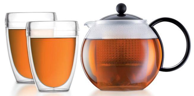 Bodum Assam Tee Set mit 1 Liter Kanne + 2 Gläser für 21,90€ (statt 32€)
