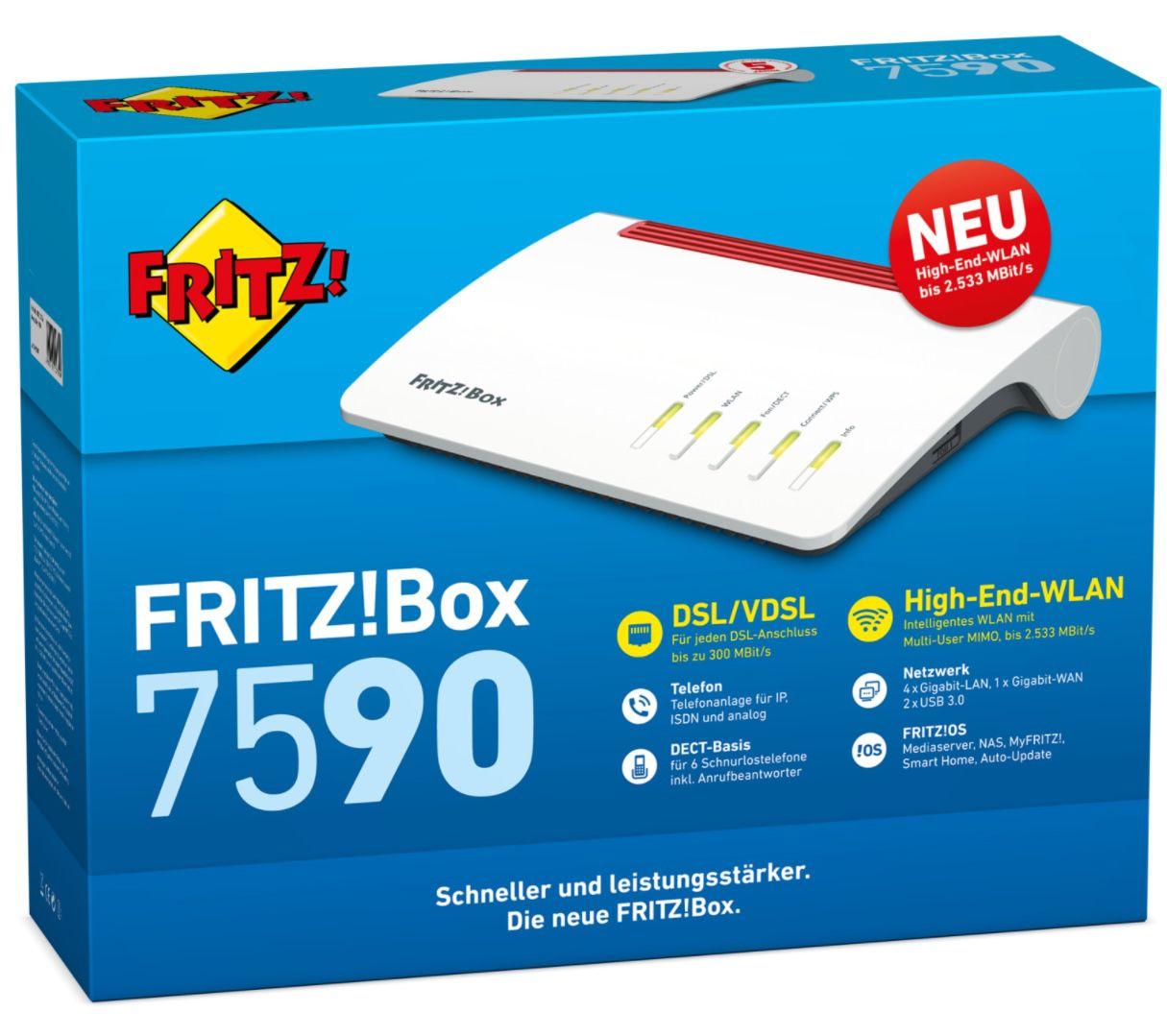 AVM FRITZ!Box 7590 + 2400 Repeater für 191,67€ (statt 265€)