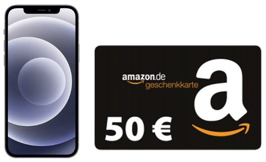 Apple iPhone 12 128GB mit 50€ Amazon für 89,95€ mit Vodafone Allnet Flat inkl. 30GB LTE 5G für 44,95€