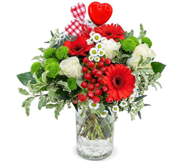 Blumenstrauß Herzensmensch für 25,98€ oder mit Lindt Pralinen für 31,97€