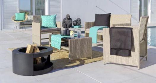 modern living Casablanca Loungegarnitur in Braun/Schwarz für 104,30€ (statt 149€)