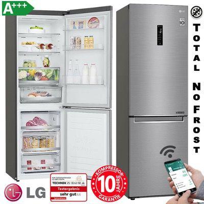LG Kühl Gefrierkombination GBB71PZDFN Edelstahl A+++ NoFrostWiFi für 555€ (statt 699€)