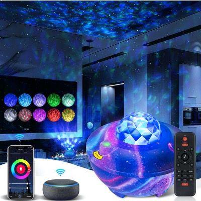 LED Sternenhimmel Projektor mit Fernbedienung und Bluetooth-Lautsprecher (Alexa & Google) für 25,79€ (statt 43€)