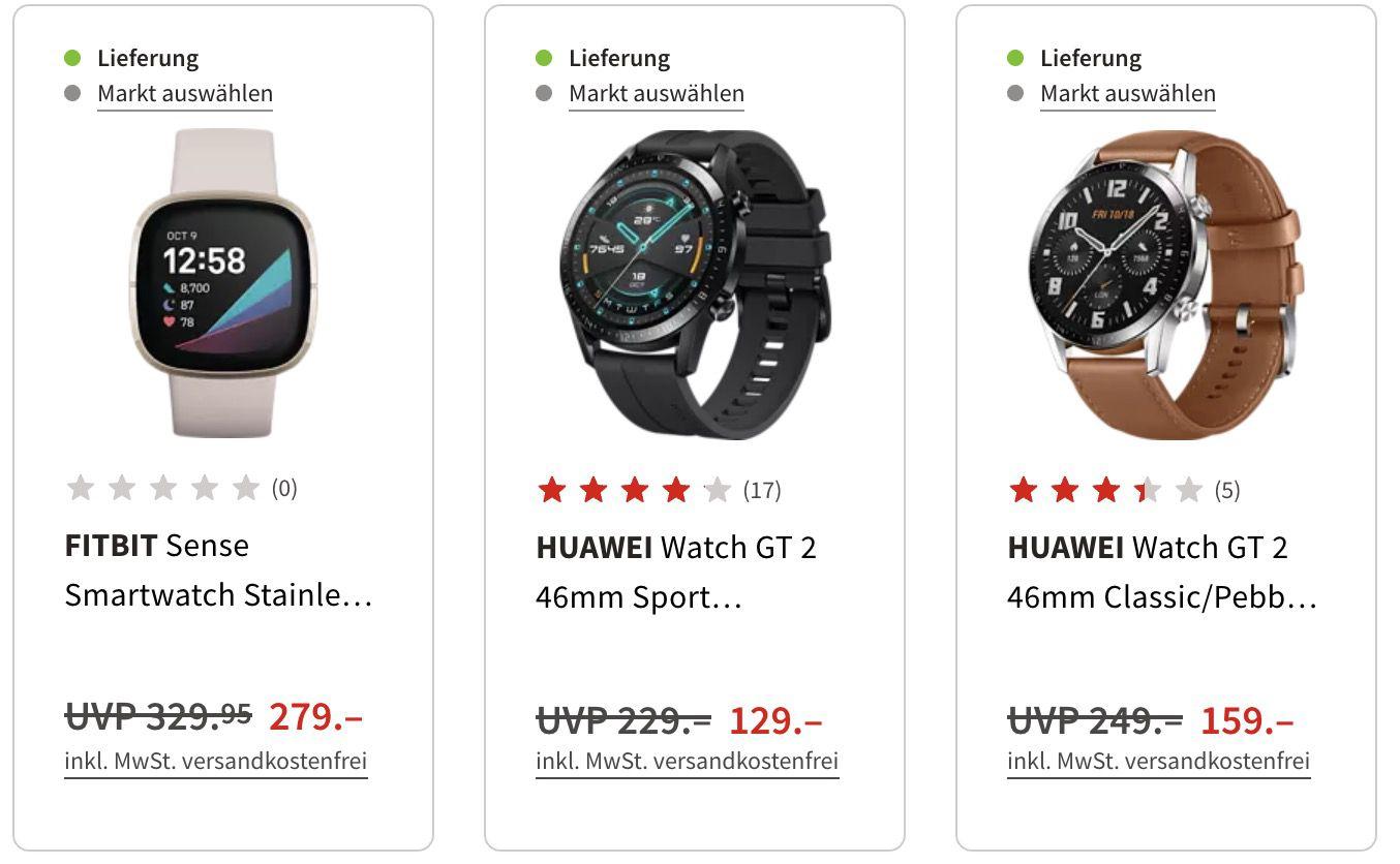 MediaMarkt Wearbles Week: z.B. HUAWEI WATCH GT 2 Pro Sport für 199€ (statt 219€)