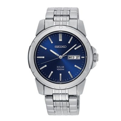 SEIKO Solar Herren Uhr SNE501P1 41mm aus Edelstahl für 130,26€ (statt 199€)