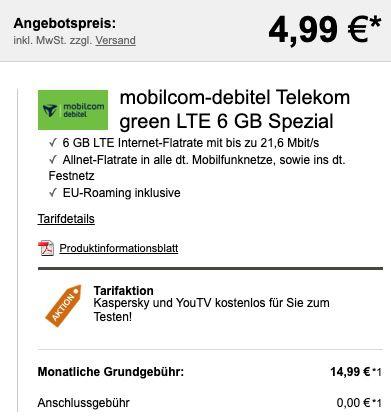 Xiaomi Mi 10T Lite 128GB + Earbuds für 4,99€ + Telekom Allnet Flat mit 6GB LTE für 14,99€ mtl.