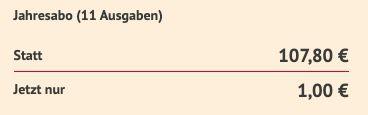 11 Ausgaben monopol E Paper für nur 1€ statt 100€ (!)