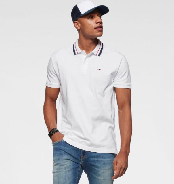 🔥 Tommy Jeans Classics Tipped Stretch Poloshirt ab 24,92€ (statt 59€)