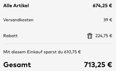Phill Hill Ecksofa KIMI mit Stoff Anthrazit 315x212cm für 713,25€ (statt 938€)