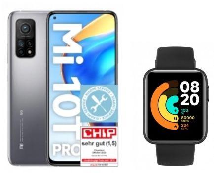 Xiaomi Mi 10T Pro 128GB + Mi Watch Lite für 149€ + Vodafone Allnet Flat mit 5GB LTE für 14,99€ mtl.