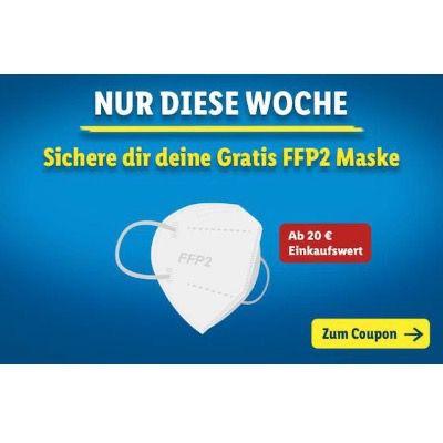 Mit der Lidl Plus App ab einem Einkaufwert von 20€ gratis FFP2-Maske erhalten