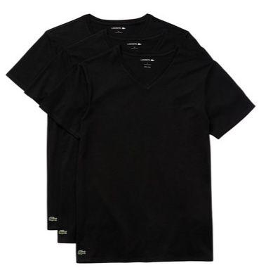 3er Pack Lacoste T Shirts mit Rundhals  oder V Ausschnitt für je 30,90€(statt 40€)