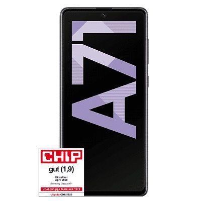 Samsung Galaxy A71 für 4,95€ + Otelo Flat im Vodafone Netz mit 5GB LTE für 14,99€ mtl.