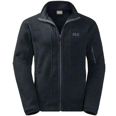 Jack Wolfskin Rock Jacket Herren Fleecejacke in Schwarz für 72,90€ (statt 100€) – M bis 2XL