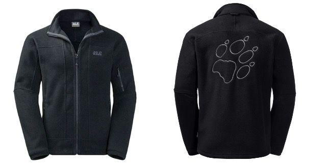 Jack Wolfskin Rock Jacket Herren Fleecejacke in Schwarz für 72,90€ (statt 100€)   S und XL