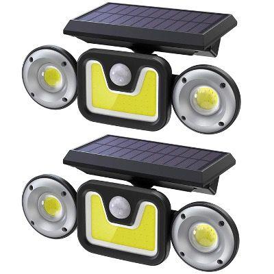Doppelpack Ltteny LED-Solarlampen für Außen mit Bewegungsmelder 450 Lumen 2400mAh IP65 für 25,99€ (statt 46€)