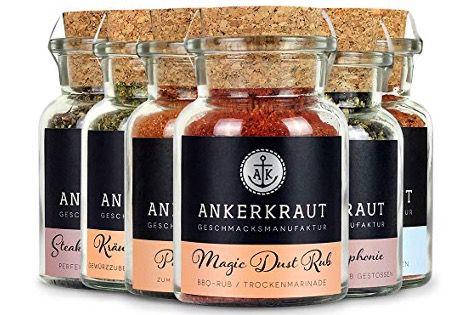 Ankerkraut Grill Set mit 6 Gewürzen nur 14,14€ im Prime Sparabo   2,35€ pro Gewürz (statt 5,49€)