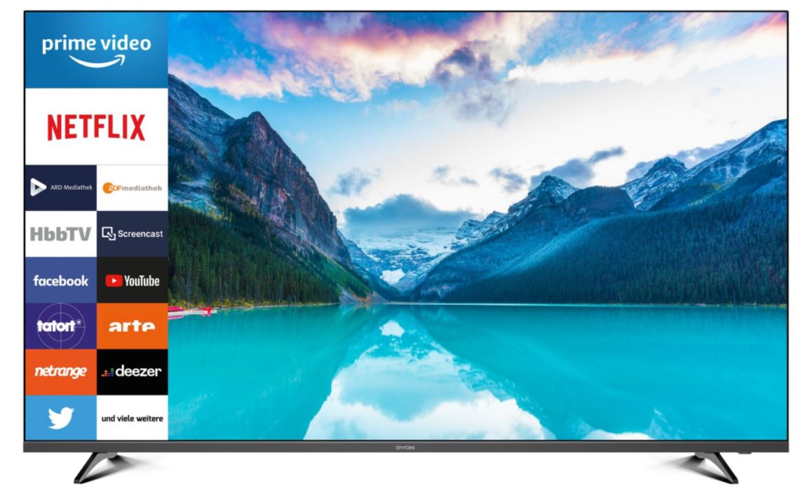 DYON Movie Smart 55 XT   55 Zoll UHD Fernseher (Modell 2020) für 309,70€ (statt 343€)
