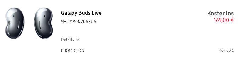 Samsung Galaxy S21 Ultra 5G 128GB + Galaxy Buds Live für 99€ + Vodafone Allnet Flat mit 40GB LTE/5G für 51,99€mtl.